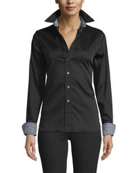 Robert Graham Priscilla Woven Top - Black