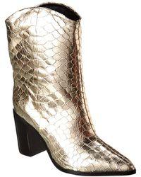 Schutz Vonna Leather Bootie - Metallic