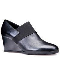 Geox Inspiration Suede Shoe - Black