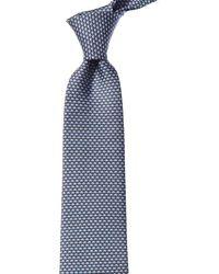Ferragamo Micro - Elephants Silk Classic Tie - Gray