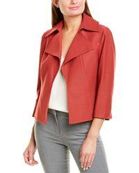 Anne Klein Twill Kissing Jacket - Red