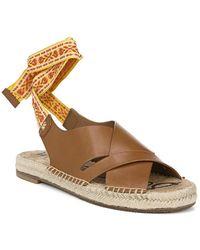 Sam Edelman Alisha Leather Sandal - Brown