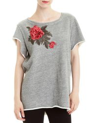 Romeo and Juliet Couture Embroidered T-shirt - Black