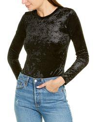 Enza Costa Velvet Bodysuit - Black