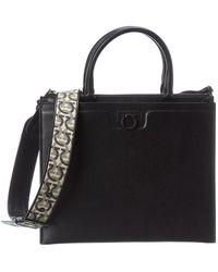 Ferragamo - Shoulder Bag With Logo Black - Lyst