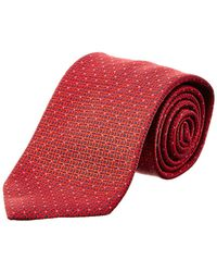 Brioni - Red & Navy Squares Silk Tie - Lyst