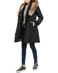 Mackage Trish Leather-trim Down Coat - Black