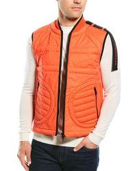 Moncler Quilted Down Vest - Orange