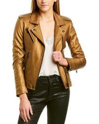 IRO Leather Biker Jacket - Metallic