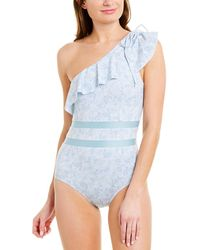 6 Shore Road By Pooja One-shoulder Solstice One-piece - Blue
