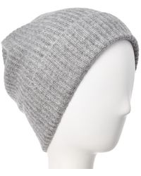 Quinn - Qi Ribbed Knit Cashmere Hat - Lyst