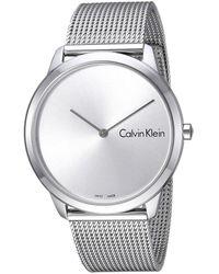 Calvin Klein Minimal Watch - K3m211y6 (silver) Watches - Metallic