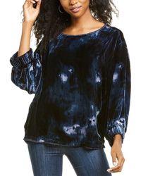 Go> By Go Silk Go By Go>silk Velvet Raggedy Ann Silk-blend Shirt - Grey