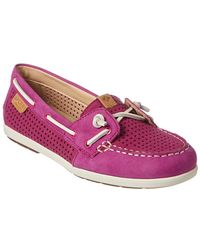 Sperry Top-Sider - Women's Coil Ivy Perforated Leather Boat Shoe - Lyst