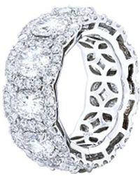 Diana M. Jewels . Fine Jewelry 18k 8.85 Ct. Tw. Diamond Ring - Metallic
