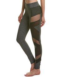 Electric Yoga Mesh Panel Leggings - Gray