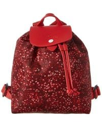 Longchamp Le Pliage Fleurs Backpack - Red