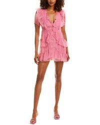 LoveShackFancy Britte Midi Dress - Pink