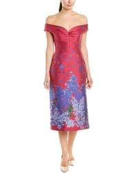 Carolina Herrera Silk-lined Sheath Dress - Red