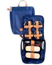 Bey-berk 10pc Shoe Shine Kit - Blue