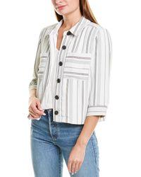 Vince Camuto Yarn Dye Stripe Jacket - White