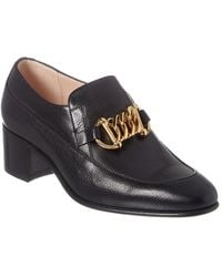 Gucci Horsebit Chain Leather Loafer - Black