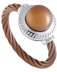 Charriol Stainless Steel Pearl Ring - Metallic