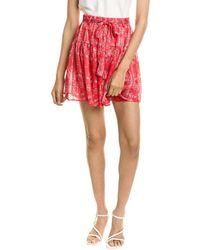 Sabina Musayev Jezebel Mini Skirt - Red