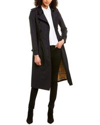 Burberry Chelsea Long-length Heritage Trench Coat - Blue