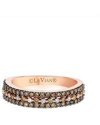 Le Vian - ? Vanilla Diamond, Chocolate Diamond & 14k Strawberry Gold Ring - Lyst