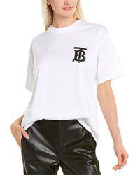 Burberry Monogram Motif Cotton Oversized T-shirt - White