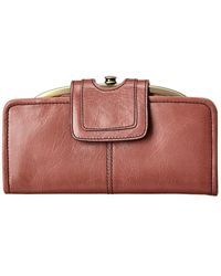 Hobo International Nova Leather Wallet - Pink