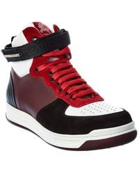 Burberry Leather & Suede High-top Trainer - Black