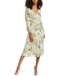 Diane von Furstenberg Evelyn Reversible Crepe Midi Wrap Dress - Multicolour
