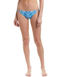 Carmen Marc Valvo Bikini Bottom - Blue