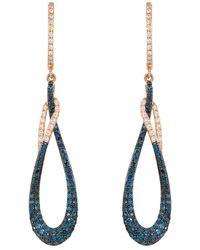 Effy 14k Rose Gold 0.86 Ct. Tw. Diamond Earrings - Metallic