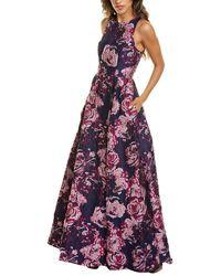 Aidan Mattox Jacquard Gown - Purple