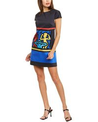 Alice + Olivia X Keith Haring Clyde Shift Dress - Black
