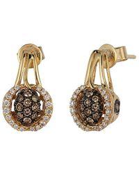 Le Vian ? Chocolatier? 14k Honey Gold? 0.50 Ct. Tw. Diamond Earrings - Metallic