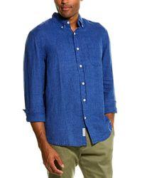 Grayers Paloma Sun Washed Linen Woven Shirt - Blue