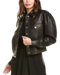 IRO Aressa Leather Jacket - Black