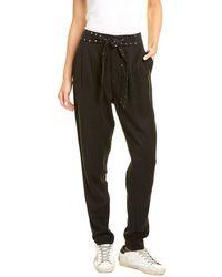 Pam & Gela Studded Sash Pant - Black