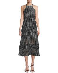 Endless Rose Polka Dot Maxi Dress - Black