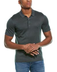 Theory Davies Colona Linen-blend Polo Shirt - Green