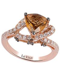 Le Vian - ® 14k Rose 2.08 Ct. Tw. Diamond & Quartz Ring - Lyst