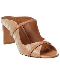 Malone Souliers Norah 70 Croc-embossed Leather Sandal - Brown