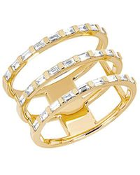 EF Collection 14k 0.33 Ct. Tw. Diamond Baguette Triple Spiral Ring - Metallic