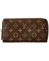 9a0bfcb6622 Lyst - Louis Vuitton Xxx Portefeuille Zippy En Cuir Verni Bordeaux ...