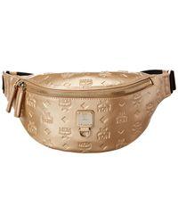 MCM Fursten Monogram Leather Belt Bag - Brown