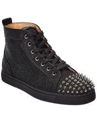 Christian Louboutin Lou Spikes Orlato Sneaker - Black
